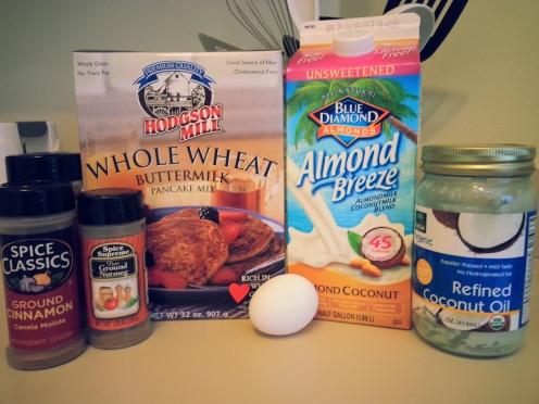 Whole Wheat Pumpkin Protein Pancake Ingredients