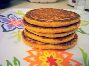 Whole Wheat Pumpkin Protein Pancakes