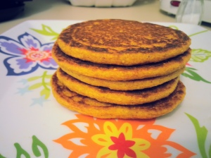 Whole Wheat Pumpkin Protein Pancakes