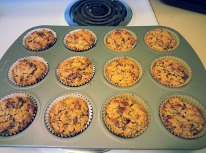 Chocolate Chip Oat Bran Muffins